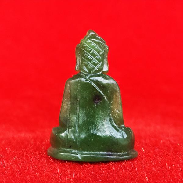พระหินหยกแกะ พิมพ์พระพุทธ วัดธรรมมงคล สร้างโดยพระอาจารย์วิริยังค์ ปี 2536 สวยหายาก องค์ 1 1