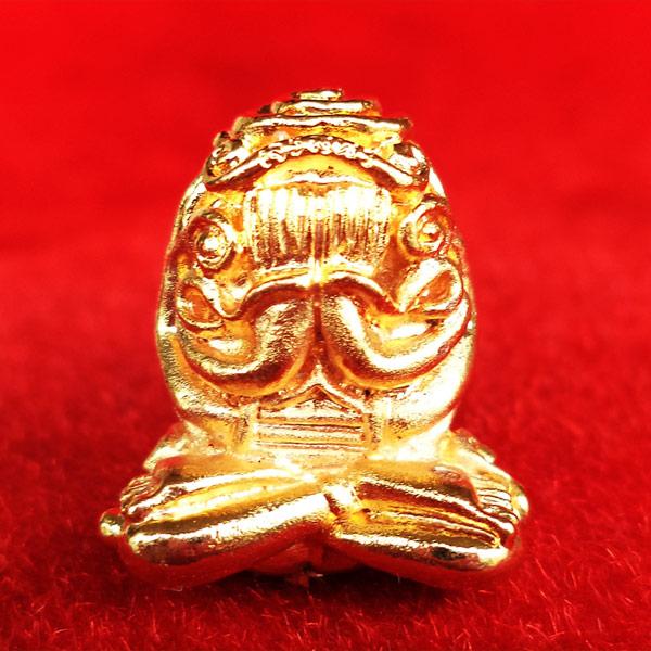 พระปิดตา อุตตโมยันต์ยุ่ง เจริญพร รุ่นแรก หลวงพ่อคูณ วัดบ้านไร่ เนื้อทองระฆังฝังตะกรุดเงิน เลข 2160