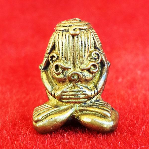 พระปิดตามหาอุด หลวงปู่พรหมมา รุ่นพรหมสยาม เนื้อทองผสมแก่ทองคำ ปี 36 ไม่เช่าตอนนี้แล้วจะเสียดาย