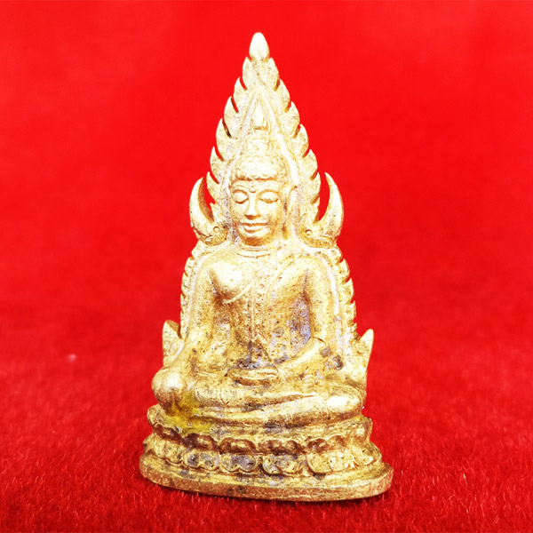 พระพุทธชินราชลอยองค์ อินโดจีน ย้อนยุค รุ่นมหาจักรพรรดิ ปี 2555 เนื้อทองระฆังเก่า หมายเลข ๔๖๘