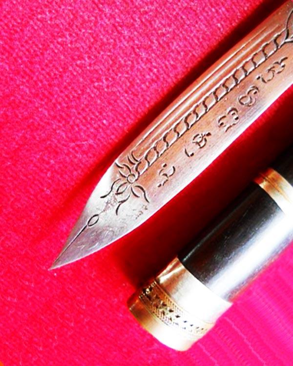 มีดหมอปากกา ขนาดใบมีด 2.5 นิ้ว ฝักไม้ หลวงพ่อตี๋ วัดหูช้าง ตำรับหลวงพ่อเดิม สร้างน้อย สุดยอดทุกด้าน 3