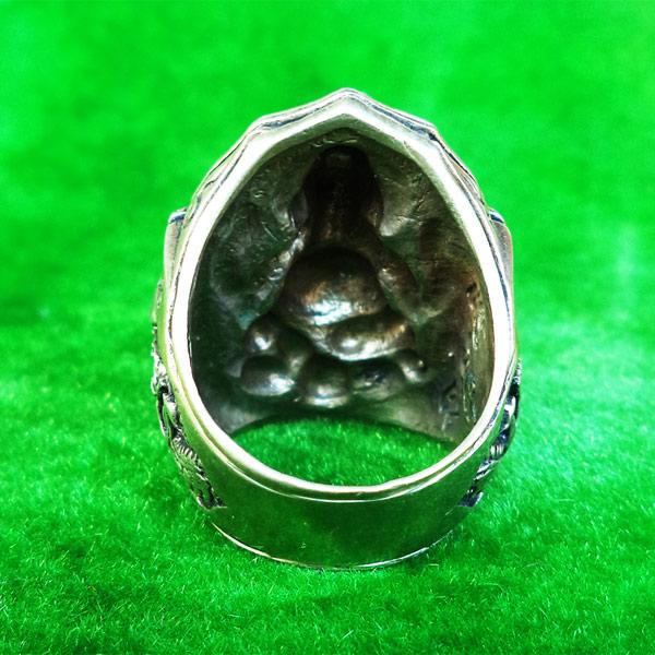 แหวนพระพิฆเนศ พิมพ์ใหญ่ เนื้ออัลปาก้า รุ่นมั่งมีศรีสุข หลวงปู่หงษ์ วัดเพชรบุรี ปี 2548 สวยมาก 4
