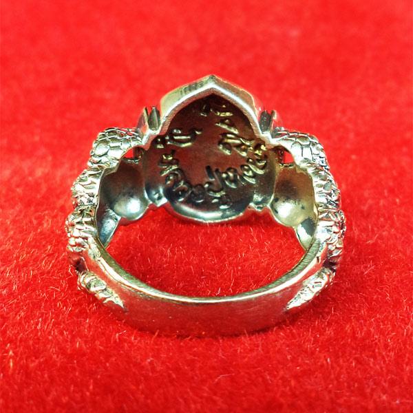 แหวนพระพิฆเนศ พิมพ์เล็ก เนื้ออัลปาก้า รุ่นมั่งมีศรีสุข หลวงปู่หงษ์ วัดเพชรบุรี ปี 2548 สวยมาก 4