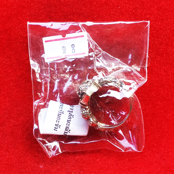 แหวนพระพิฆเนศ พิมพ์เล็ก เนื้ออัลปาก้า รุ่นมั่งมีศรีสุข หลวงปู่หงษ์ วัดเพชรบุรี ปี 2548 สวยมาก 5