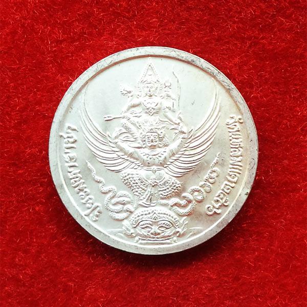 เหรียญรัชกาลที่ 5 หลังนารายณ์ทรงครุฑประทับราหู เนื้อเงินลงยา วัดแหลมแค ปลุกเสกปี 2536 สวย สุดหายาก 7 1