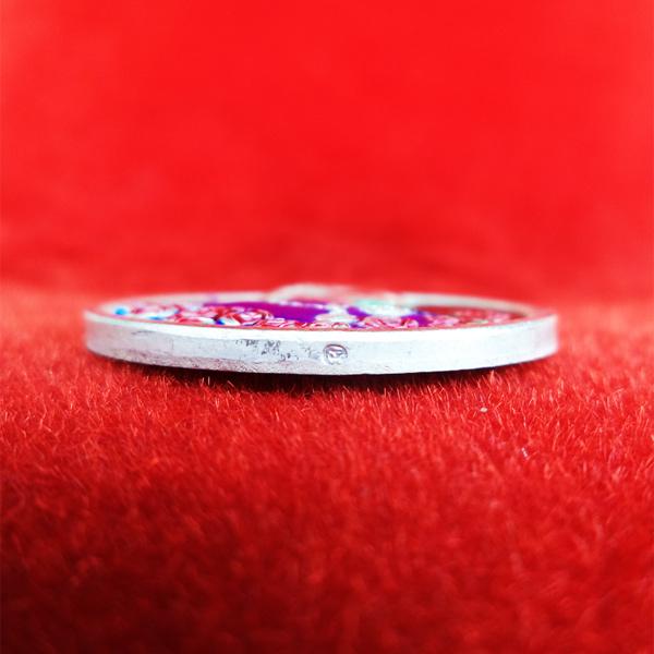 เหรียญรัชกาลที่ 5 หลังนารายณ์ทรงครุฑประทับราหู เนื้อเงินลงยา วัดแหลมแค ปลุกเสกปี 2536 สวย สุดหายาก 7 3
