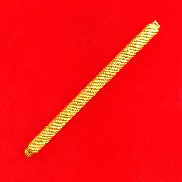 สุดยอดตะกรุดมหาระง้บ จารมือ เนื้อทองฝาบาตรถักเชือกพอกผงลงสีทอง รุ่นแรกพระอาจารย์แว่น วัดสะพานสูง