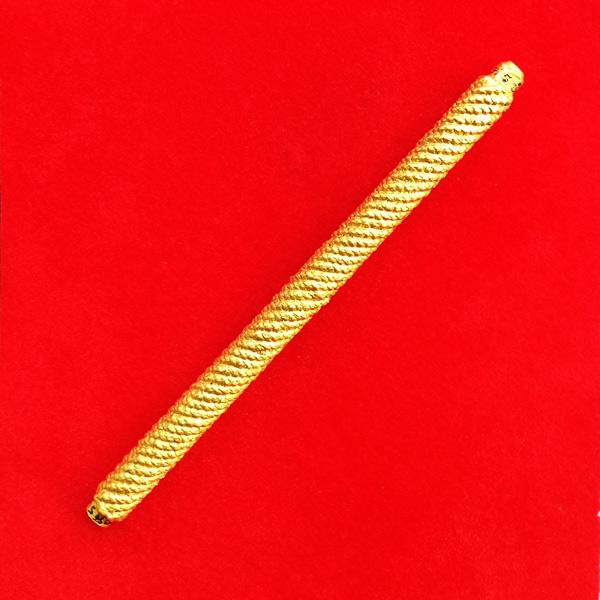 สุดยอดตะกรุดมหาระง้บ จารมือ เนื้อทองฝาบาตรถักเชือกพอกผงลงสีทอง รุ่นแรกพระอาจารย์แว่น วัดสะพานสูง 1