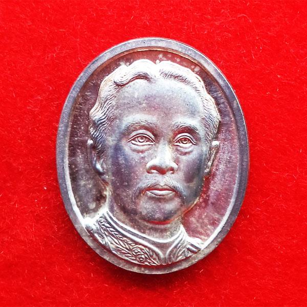 เหรียญที่ระลึก ร. 5 หลัง จปร. เนื้อเงิน วัดนิเวศธรรมประวัติ สร้างศาลากาญจนาภิเษก 23 ตุลาคม 2537 1