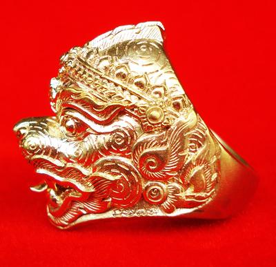 แหวนหนุมานทรงเครื่อง หลวงพ่อฟู วัดบางสมัคร รุ่นแซยิด 89 ปี บารมีฟูฟูฟู เนื้อทองสตางค์ ปี 2553 1
