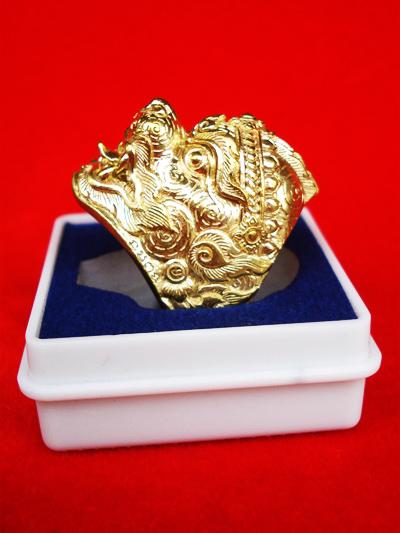 แหวนหนุมานทรงเครื่อง หลวงพ่อฟู วัดบางสมัคร รุ่นแซยิด 89 ปี บารมีฟูฟูฟู เนื้อทองสตางค์ ปี 2553 2