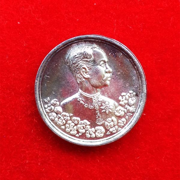 พิมพ์เล็ก เหรียญรัชกาลที่ 5 หลังนารายณ์ทรงครุฑประทับราหู เนื้อเงิน วัดแหลมแค ปี 2536 สวย สุดหายาก 15