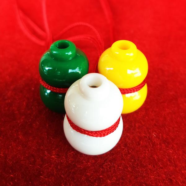 น้ำเต้าหลวงพ่อสด วัดปากน้ำ ชุด 3 สี 3 ลูก แบบที่ 3 รุ่น 100 ปี ภาพสี บูชาไว้เพื่อดูดทรัพย์ดีมาก 1