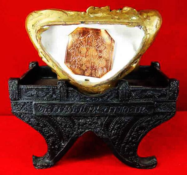 พระบูชา หลวงพ่อเงิน วัดบางคลาน 2 ถอด เนื้อทองเหลืองรมมันปู หน้าตัก 5 นิ้ว รุ่นตัดลูกนิมิต วัดห้วยเขน 3