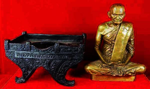 พระบูชา หลวงพ่อเงิน วัดบางคลาน 2 ถอด เนื้อทองเหลืองรมมันปู หน้าตัก 5 นิ้ว รุ่นตัดลูกนิมิต วัดห้วยเขน 4