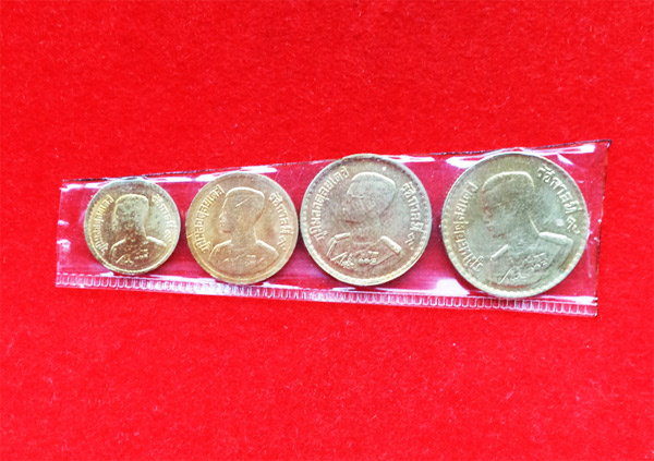เหรียญสตางค์ ปี 2500 ชนิด .05, .25, .10,.05 ส.ต. สภาพสวยทรงคุณค่า จำนวน 4 เหรียญ หายากแล้ว