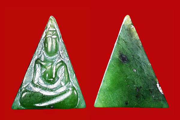 พระหินหยกแกะ พิมพ์นางพญา วัดธรรมมงคล สร้างโดยพระอาจารย์วิริยังค์ ปี 2536 สวยหายาก 2