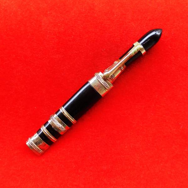 มีดหมอปากกา พ่อท่านเขียว วัดห้วยเงาะ ไม้งิ้วดำ ใบมีดขนาดยาว 3 นิ้ว ปี 2554 สวยเข้มขลัง