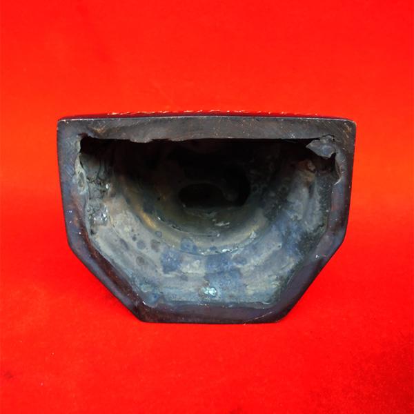 พระบูชาไพรีพินาศ วัดบวรนิเวศ เนื้อทองแดงรมดำ ขนาดหน้าตักกว้าง 3 นิ้ว วัตถุมงคลดีควรมีไว้ที่บ้าน 4