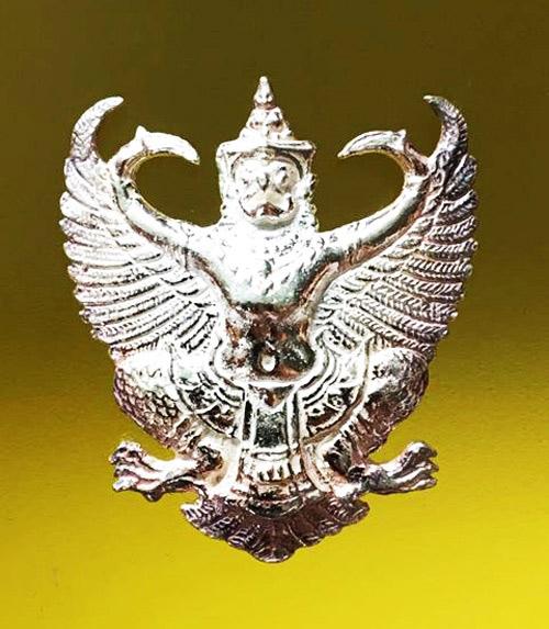 พญาครุฑ รุ่น เลื่อนสมณศักดิ์ เนื้อเงิน พระอาจารย์วราห์ ปุญญวโร วัดโพธิทอง สุดขลัง สุดสวย หายาก