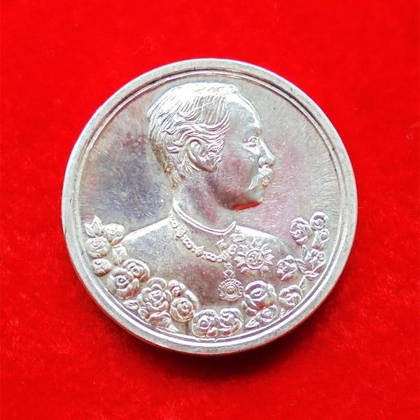 เหรียญรัชกาลที่ 5 หลังนารายณ์ทรงครุฑประทับราหู เนื้อเงิน พิมพ์ใหญ่ วัดแหลมแค ปี 2536 สวย สุดหายาก 30