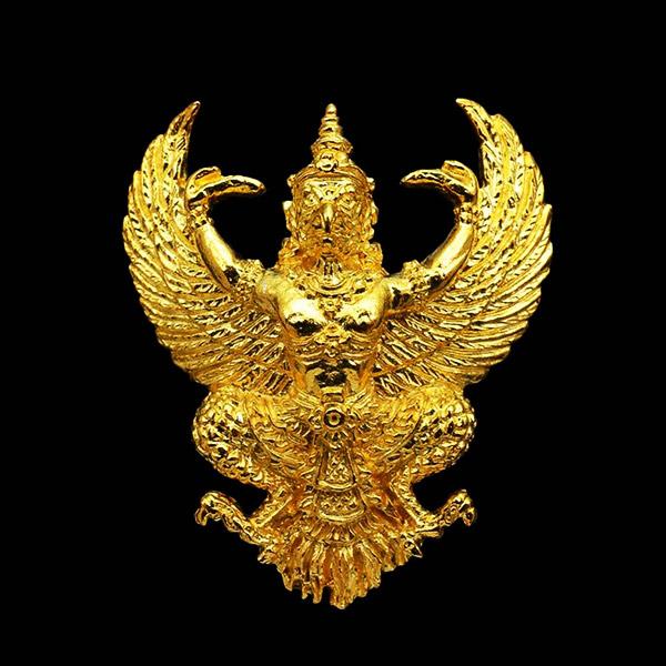 พญาครุฑ รุ่นอกแอ่นหลัง ว. มีบุญ มีวาสนา หลวงพ่อวราห์ วัดโพธิทอง เนื้อกะไหล่ทอง ปี 2541 สภาพสวยเดิม