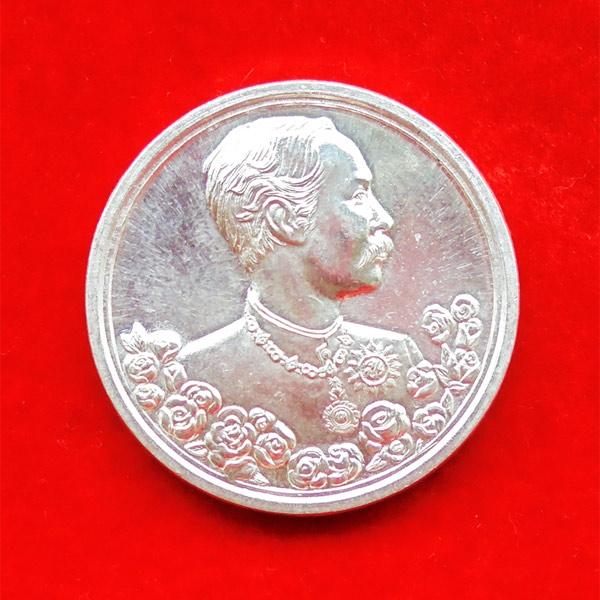 เหรียญรัชกาลที่ 5 หลังนารายณ์ทรงครุฑประทับราหู เนื้อเงิน พิมพ์ใหญ่ วัดแหลมแค ปี 2536 สวย สุดหายาก 32