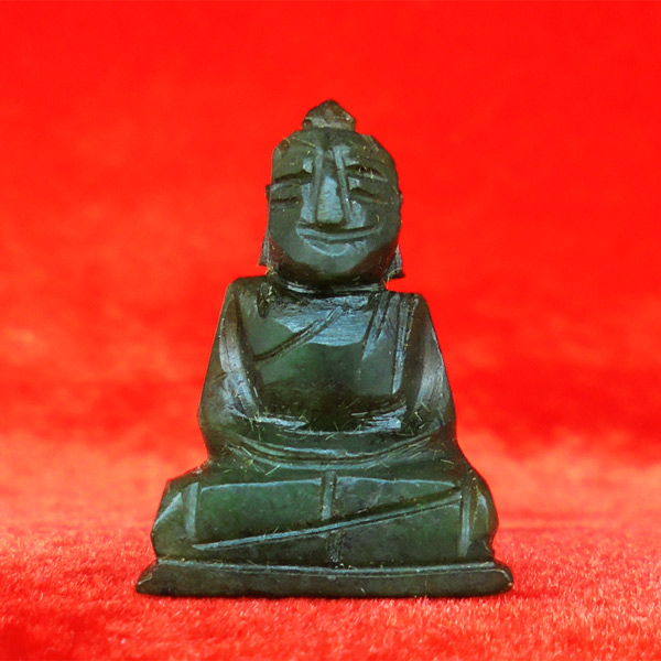 พระหินหยกแกะ พิมพ์พระพุทธ วัดธรรมมงคล สร้างโดยพระอาจารย์วิริยังค์ ปี 2536 สวยหายาก องค์ 16