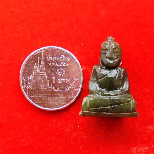 พระหินหยกแกะ พิมพ์พระพุทธ วัดธรรมมงคล สร้างโดยพระอาจารย์วิริยังค์ ปี 2536 สวยหายาก องค์ 16 3