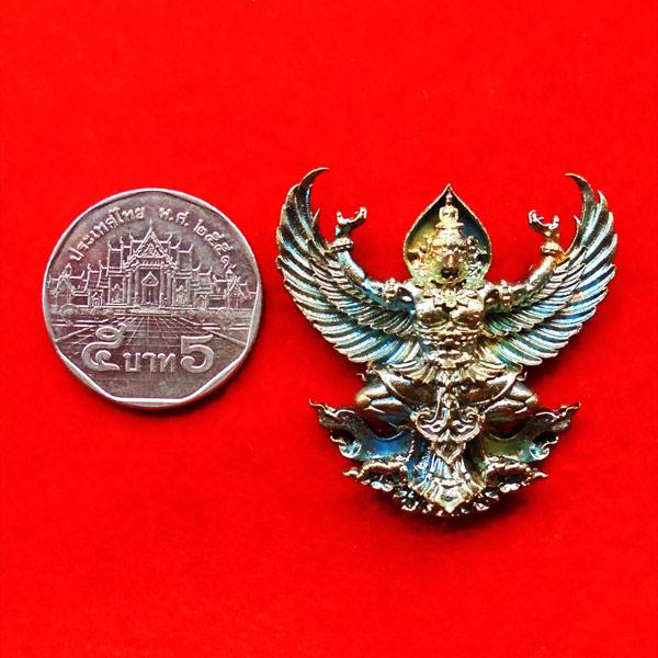 พญาครุฑมหาอำนาจ รุ่นแรก หลวงปู่ทวน วัดโป่งยาง จ.จันทรบุรี เนื้อชนวนผิวรุ้ง ปี 2560 เลขสวย 5945 3