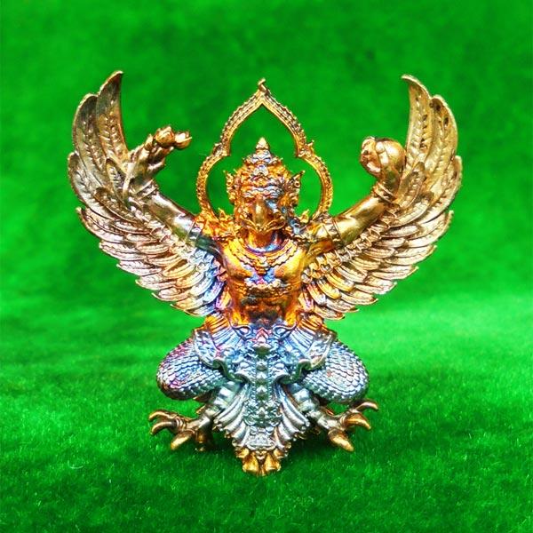 พญาครุฑพุทธบูชา รุ่นเศรษฐีมหาเศรษฐี เนื้อทองสัมฤทธิ์บ้านเชียง แยกจากชุดกรรมการ เลขสวย ๕๗๙