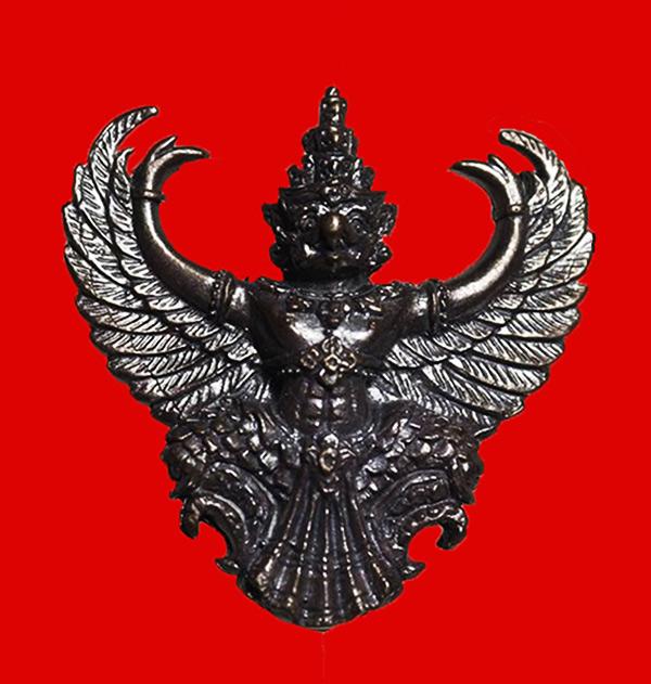 พญาครุฑ เนื้อนวโลหะ พิมพ์ใหญ่ หลวงพ่อวราห์ วัดโพธิ์ทอง ครุฑ รุ่น ๙ หน้ามหาเศรษฐี สุดสวย หายาก