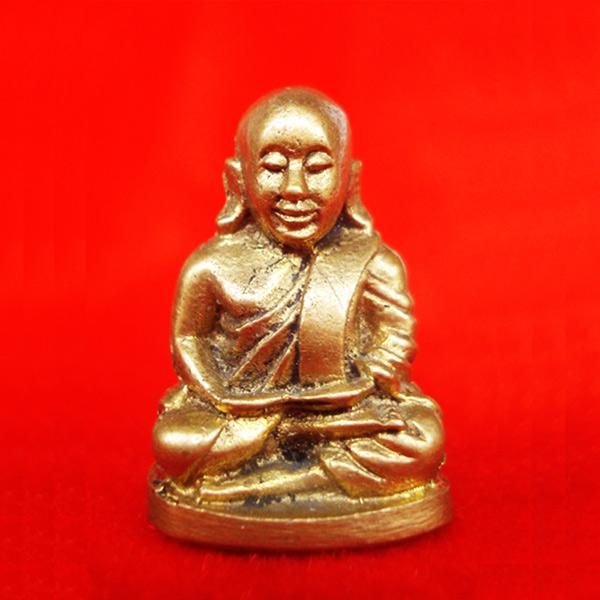 รูปหล่อหลวงพ่อเงิน บางคลาน พิมพ์นิยม เนื้อทองเหลือง ออกวัดท้ายน้ำ ปี 2536 จมูกโด่งสุดสวย
