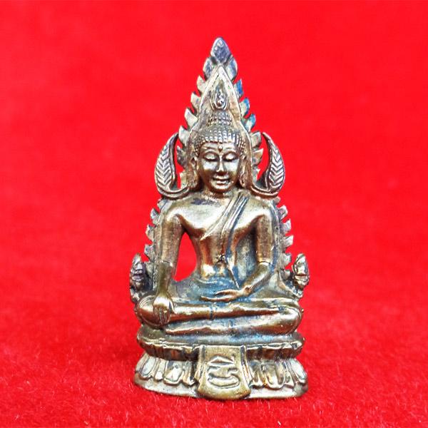 พระพุทธชินราชฐานผ้าทิพย์ รุ่นสุริยุปราคา หลวงพ่อมี วัดมารวิชัย ปี 2538 เนื้อสัมฤทธิ์ อุดผงกะลา 6