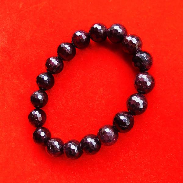 สร้อยข้อมือหินมงคลโกเมน พลอยกลมสีแดงแก่กล่ำ 10 มิล 18 เม็ด เสริมสิริมงคล มีโชคลาภ มั่งคั่งร่ำรวย 2