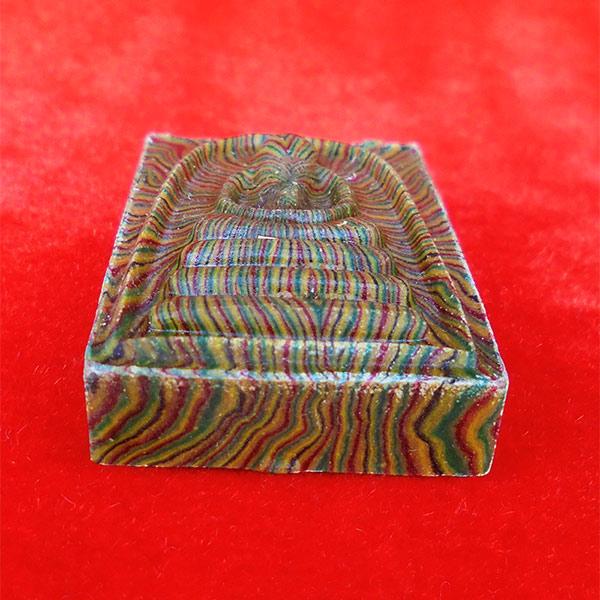 พระสมเด็จสายรุ้ง แพ 9 พัน หลวงพ่อแพ วัดพิกุลทอง ฝังตะกรุดทองคำ นาก เงิน ปี 2536 สวยมาก หายาก 2