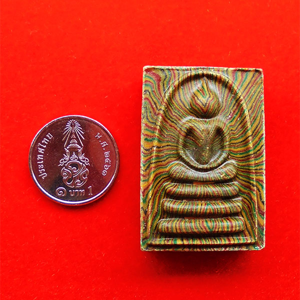 พระสมเด็จสายรุ้ง แพ 9 พัน หลวงพ่อแพ วัดพิกุลทอง ฝังตะกรุดทองคำ นาก เงิน ปี 2536 สวยมาก หายาก 4