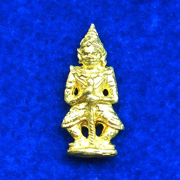 ท้าวเวสสุวรรณ(ท้าวเวสสุวัณ) รุ่นเสาร์ ๕ เนื้อทองทิพย์ องค์เล็ก พระเครื่อง วัดสุทัศนฯ ปี 2555