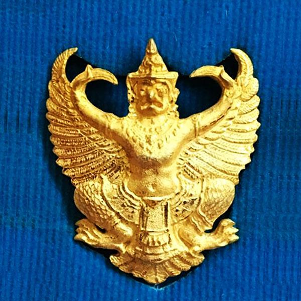 พญาครุฑ รุ่น เลื่อนสมณศักดิ์ เนื้อกะไหล่ทอง พระอาจารย์วราห์ ปุญญวโร วัดโพธิทอง สุดขลัง สุดสวย หายาก