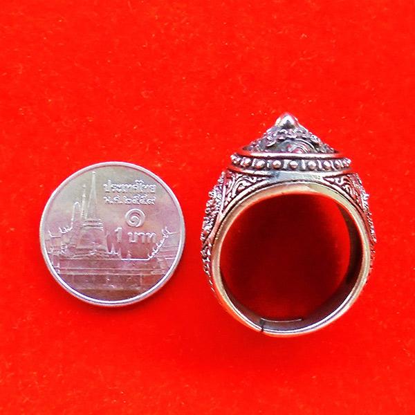 แหวนพญาครุฑหยุดนาค รุ่นปกาศิตเศรษฐี วัดกาหลง สมุทรปราการ เนื้อซิลเวอร์พลัส ปี2561 สุดขลัง สุดสวย 4
