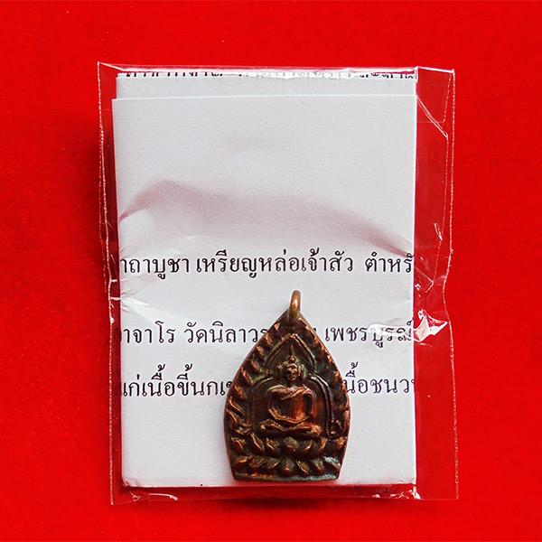 เหรียญหล่อเจ้าสัว เนื้อขี้นกเขาเปล้า หลวงปู่บุญ อาจาโร วัดนิลาวรรณฯ เพชรบูรณ์ สร้าง 688 องค์ 3