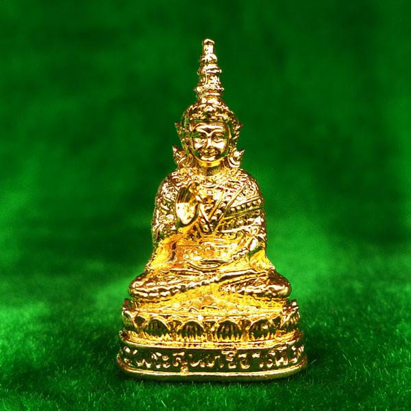 รูปหล่อ พระสุนทรีวาณี เนื้อกะไหล่ทอง วัดสุทัศนฯ ปี 2549 ดีด้านค้าขาย โชคลาภ สวยมาก