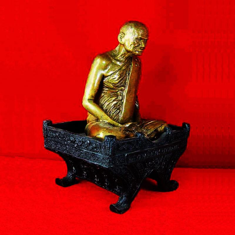 พระบูชา หลวงพ่อเงิน วัดบางคลาน 2 ถอด เนื้อทองเหลืองรมมันปู หน้าตัก 5 นิ้ว รุ่นตัดลูกนิมิต วัดห้วยเขน 2