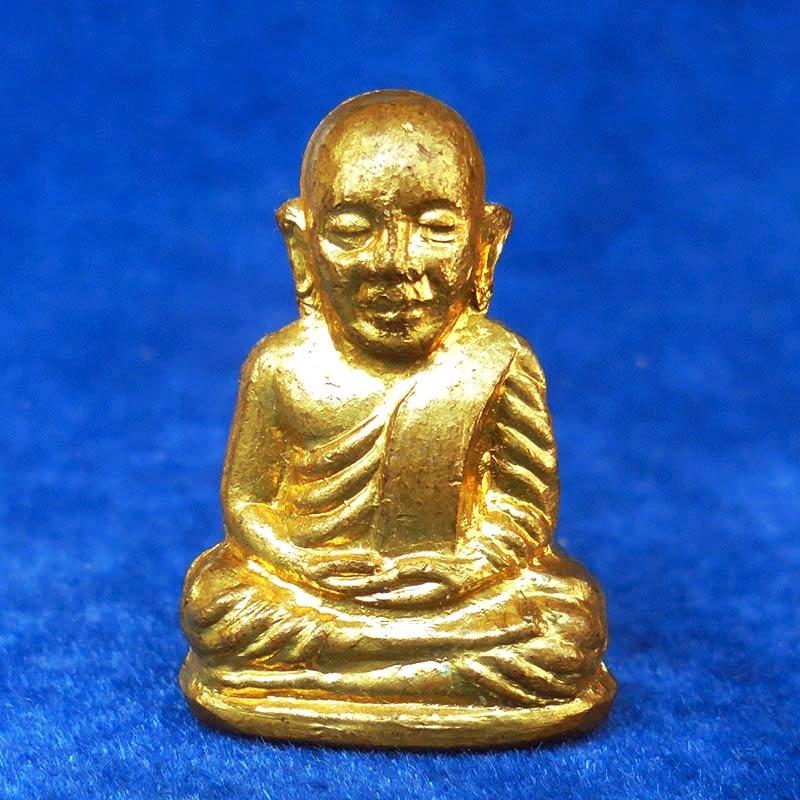 รูปหล่อปั๊มหลวงพ่อเงิน บางคลาน ปี 15 วัดบึงนาราง เนื้อทองเหลืองกะไหล่ทอง สวย น่าบูชามาก