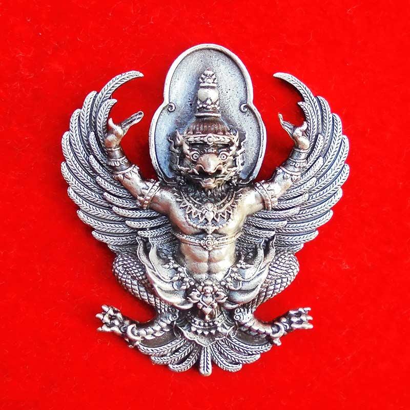 พญาครุฑ มหาอำนาจ โชคลาภ บารมี หลวงพ่อทอง วัดบ้านไร่ เนื้ออัลปาก้ารมซาติน เลขสวย 19