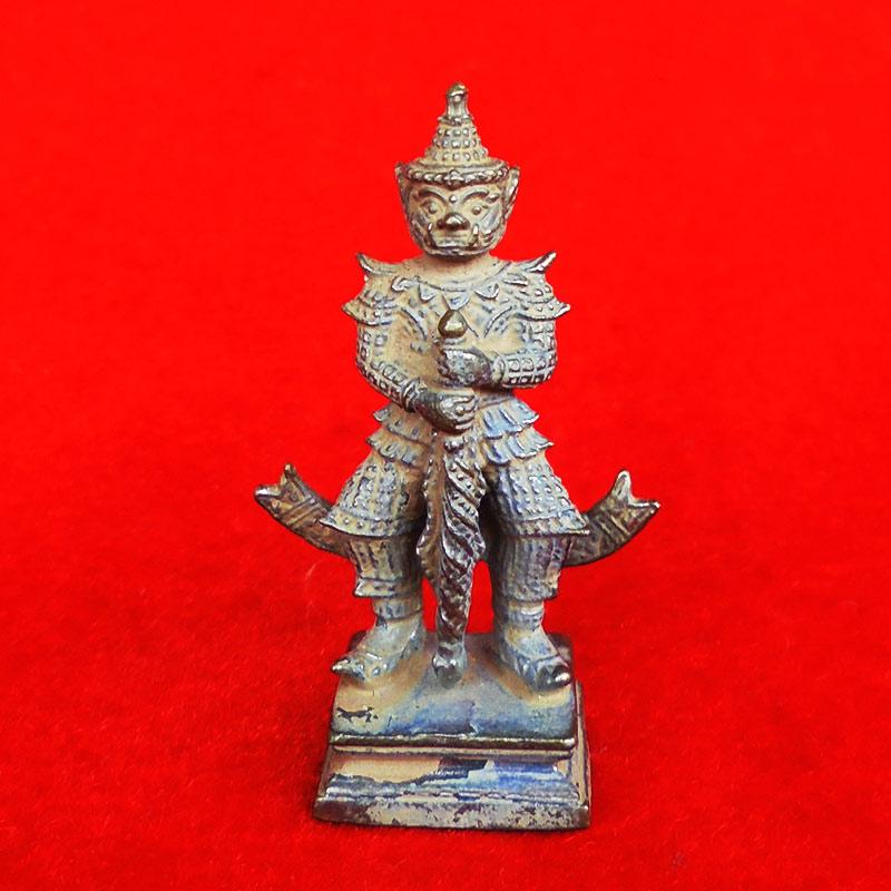 รูปหล่อ ท้าวเวสสุวรรณ รุ่นมหาเศรษฐี หลวงปู่ทวน วัดโป่งยาง จ.จันทรบุรี เนื้ออัลปาก้าดินไทย ปี 2560