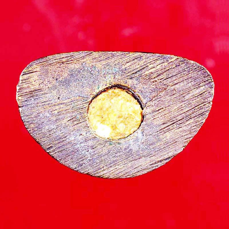 พระชัยวัฒน์ หลวงพ่อสาคร วัดหนองกรับ เนื้อขนวนโลหะผสม ก้นอุดผงพราย ปี 2547 พิธีเยี่ยม สวยน่าบูชามาก 2