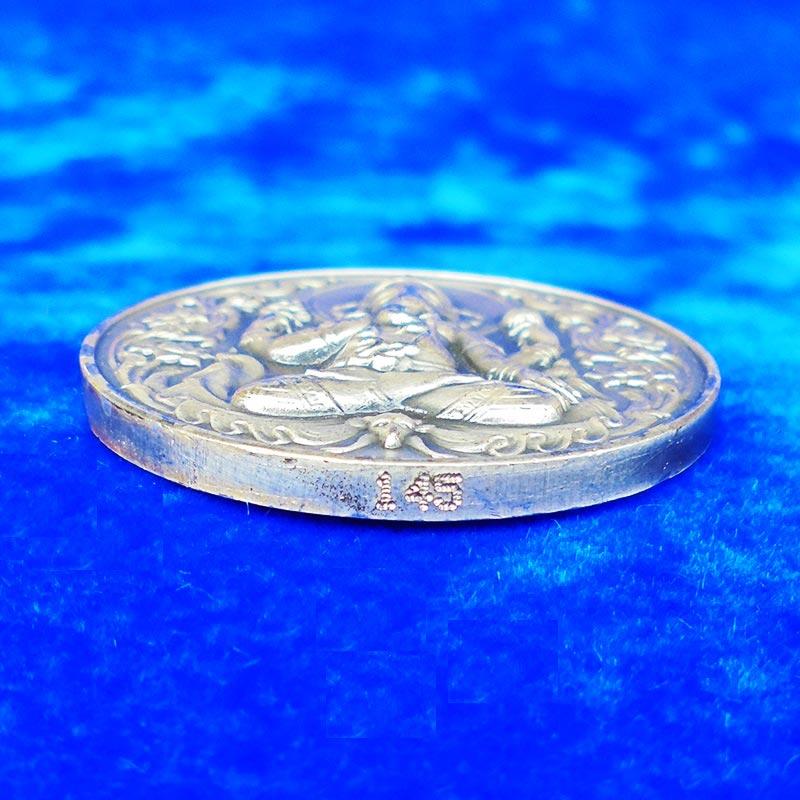 เหรียญพระพิฆเนศ ปางประทานพร  สร้างโดยหุ่นละครเล็กโจหลุยส์ เนื้อเงิน ปี 2551 ศิลปะสุดสวย 2