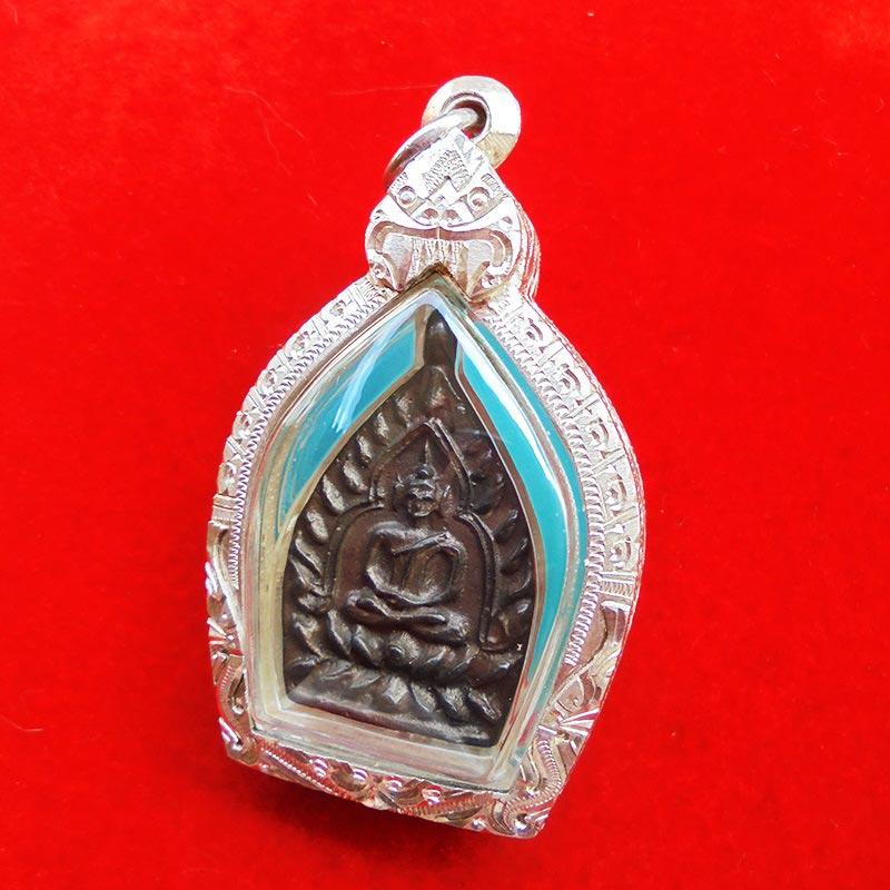 เหรียญเจ้าสัว รุ่นแรก หลวงพ่อพร วัดบางแก้ว เนื้อนวโลหะ ปี 2555 พร้อมรอยจาร สวยเข้มขลังมาก