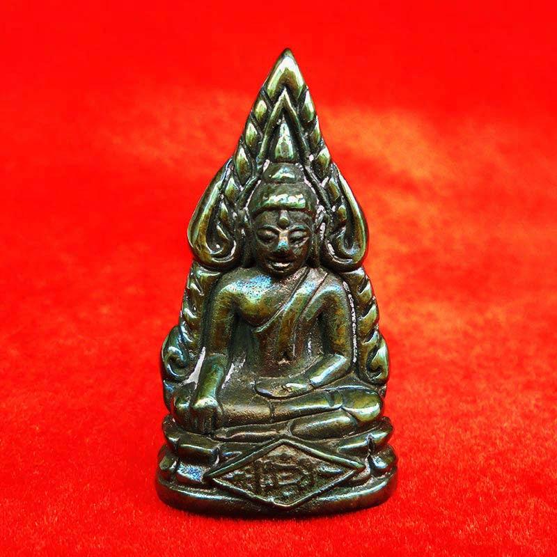 รูปหล่อพระพุทธชินราช พิมพ์เสาร์ ๕ เนื้อเมฆสิทธิ์ รุ่นจอมราชันย์  ผิวสีเขียวปีกแมลงทับ สวยมาก องค์ 29
